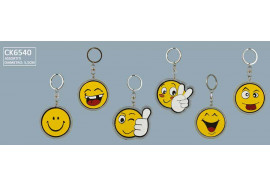 ACCESSORI SMILE P/CHIAVE 6 SOGG. ASS. 5,5CM