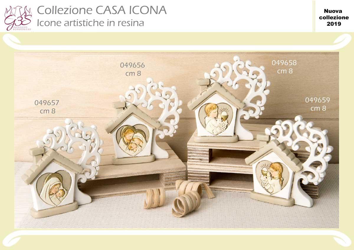 6 PZ QUADRIFOGLIO Icona in resina CALICE COMUNIONE 8 cm BOMBONIERA