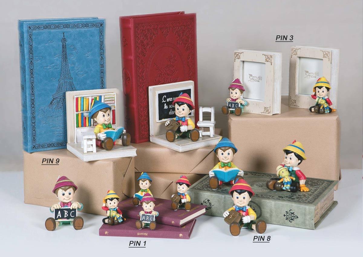Bomboniera Pinocchio Baby /_Battesimo Nascita Compleanno/_SEGNAPOSTO/_3 CONFETTI